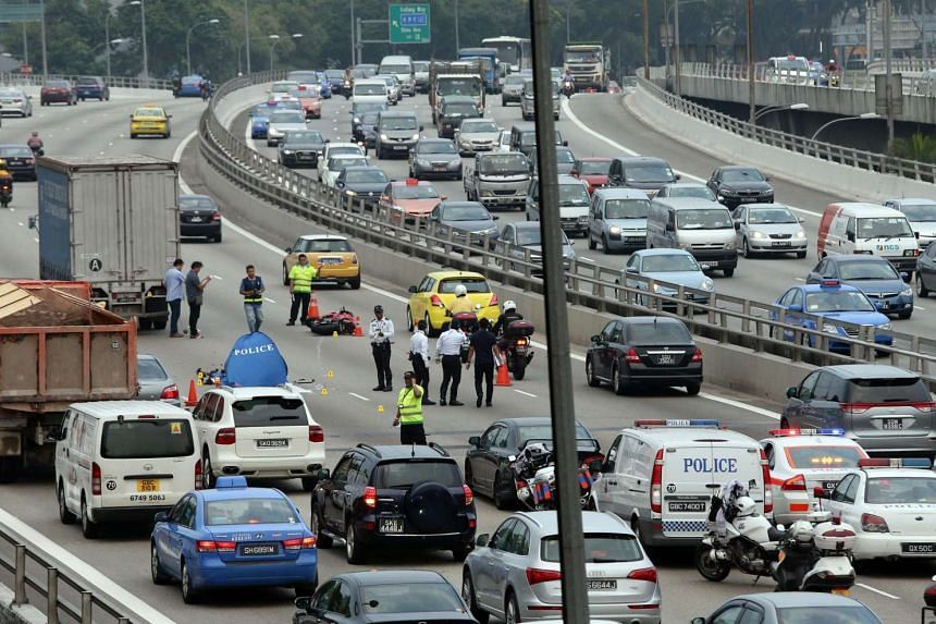 A 25-year-old Singaporean man was killed in an accident on the Pan-Island Expressway on Monday. The accident caused a massive jam that at one point stretched all the way to Bukit Batok.