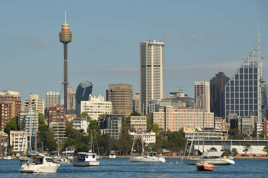 General view of the harbourfront property along the central business district of Sydney on Sept 17, 2015.