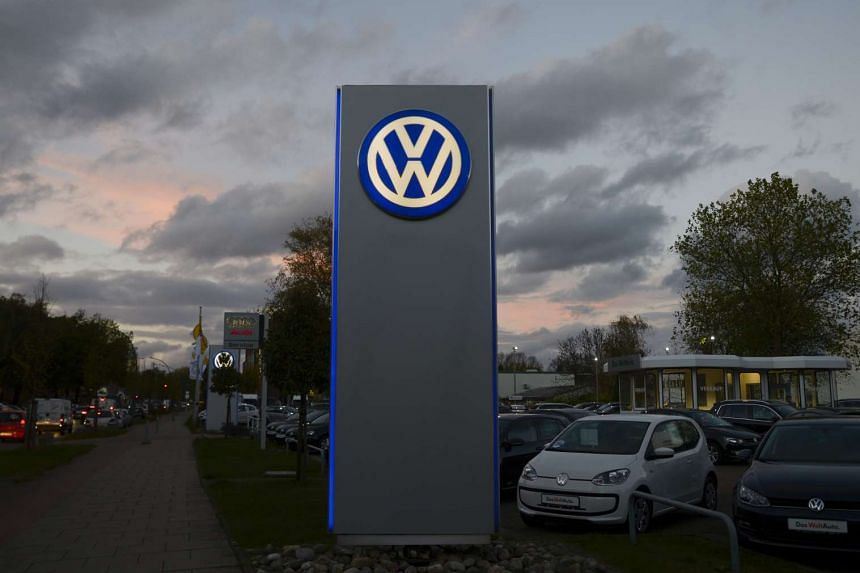 A Volkswagen dealership in Hamburg, Germany. The German automaker told US dealers to halt sales of some 2015 diesel cars on Sunday and ordered an external investigation into the emissions-cheating claims.