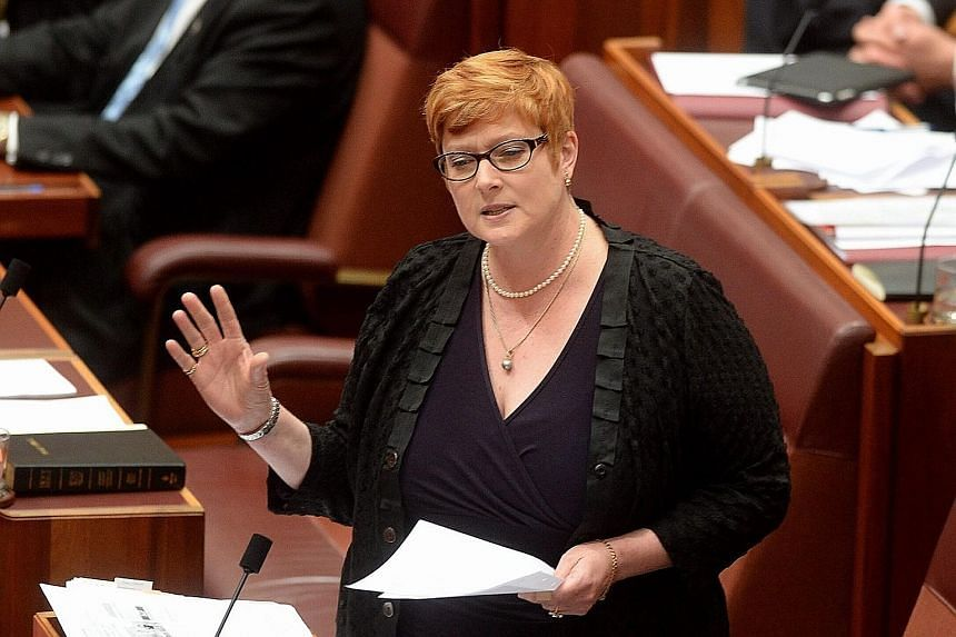 New Defence Minister Marise Payne (above) will oversee plans for a new fleet of submarines. The Cabinet will have five women ministers, up from two. Ms Julie Bishop will remain as Foreign Minister.