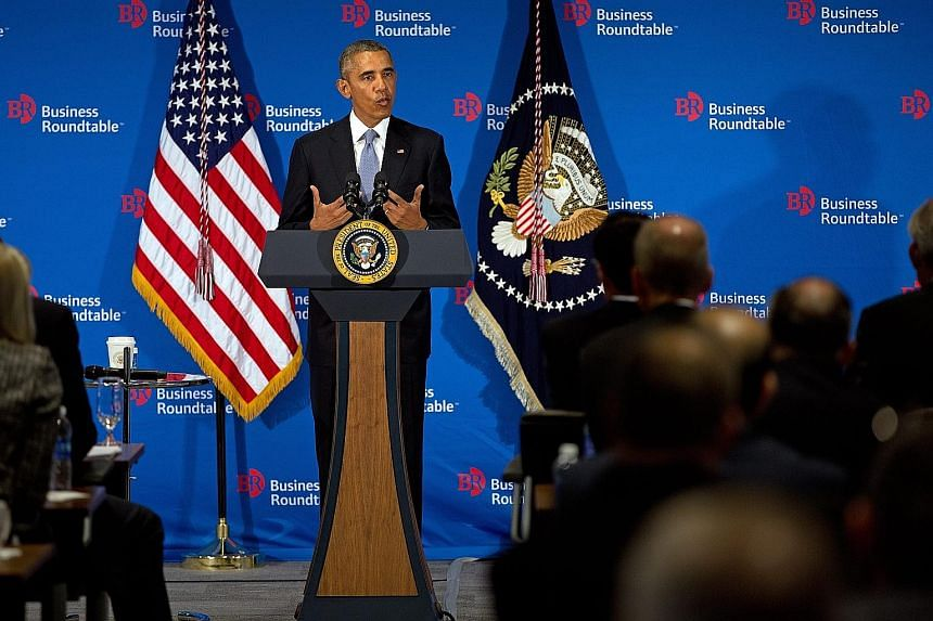 President Barack Obama speaking at a Business Roundtable meeting last week when he said that the rising number of cyber attacks would feature in his talks with President Xi Jinping of China.
