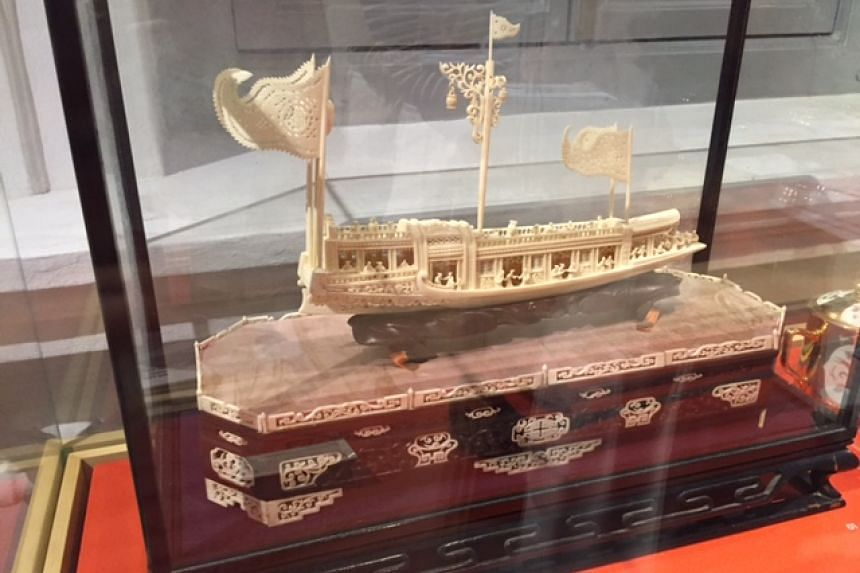 A model sailing ship given to Mr Lee Kuan Yew by a Hokkien shopkeeper in Toa Payoh following his constituency visits in 1962 and 1963.