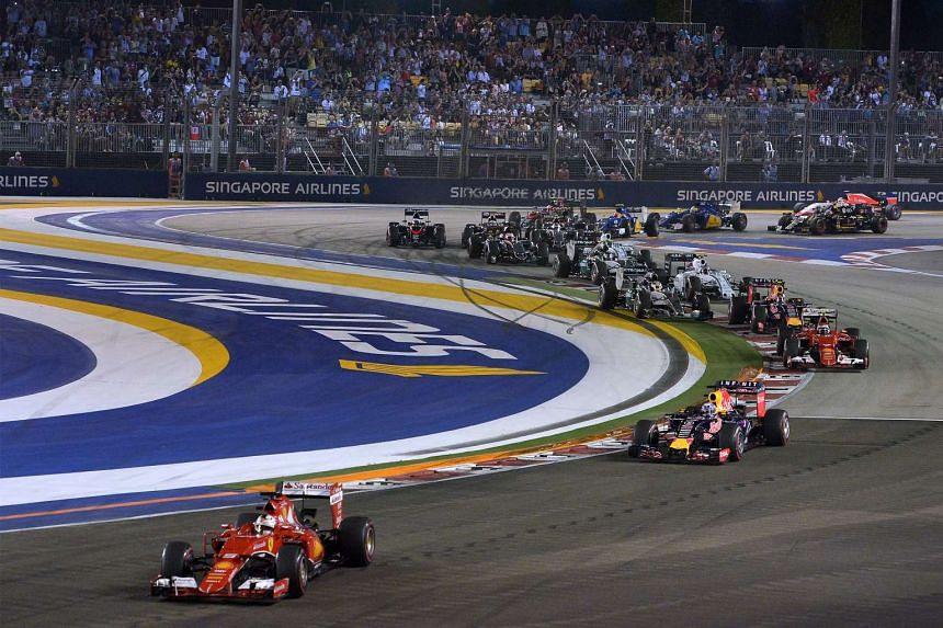 Ferrari's German ace Sebastian Vettel leading the field from start to finish to narrow the gap in the drivers' championship. He is just eight points behind second-placed Nico Rosberg.