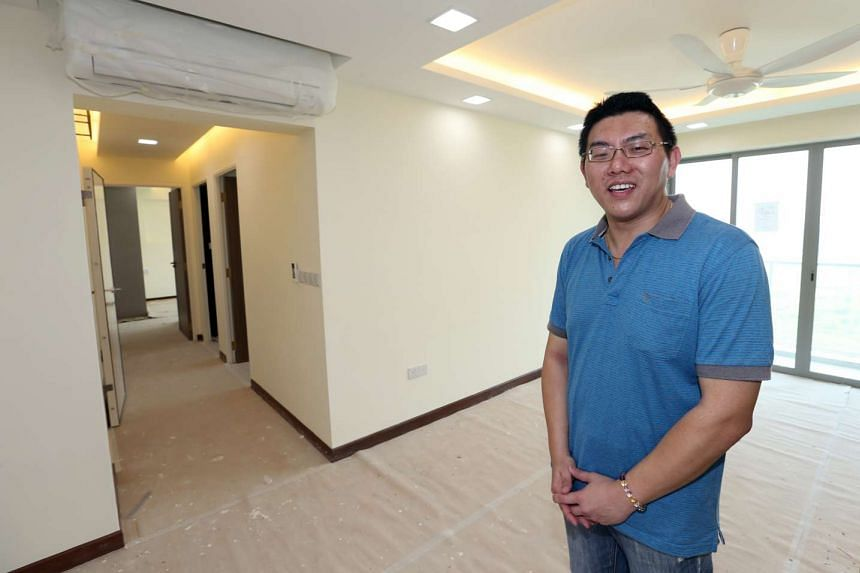 """Mr Ng Tieh Hui said his unit had only """"very tiny problems"""" which the contractors fixed."""