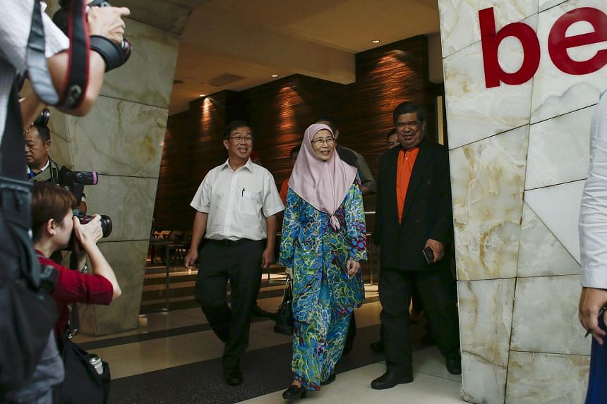 PKR Chairman Datuk Seri Dr Wan Azizah Wan Ismail (center) made the announcement on Tuesday (Sept 22) after a meeting here with the other two parties.