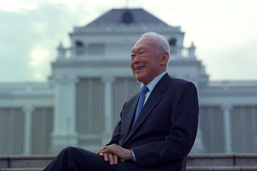 Mr Lee Kuan Yew in 2000. He died on March 23 this year, at the age of 91.