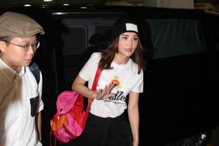 Charlene Choi arriving at a rehearsal on Monday in Hong Kong.