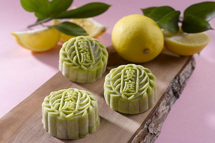 Snowskin mooncakes like these are healthier than the Teochew-style flaky crust ones.