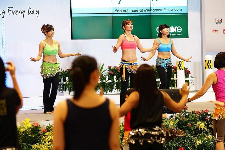The Healthy Lifestyle Festival SG will feature events every weekend, including mass exercise sessions such as trampoline fitness programmes and an ActiveSG Dance Fitness Party.