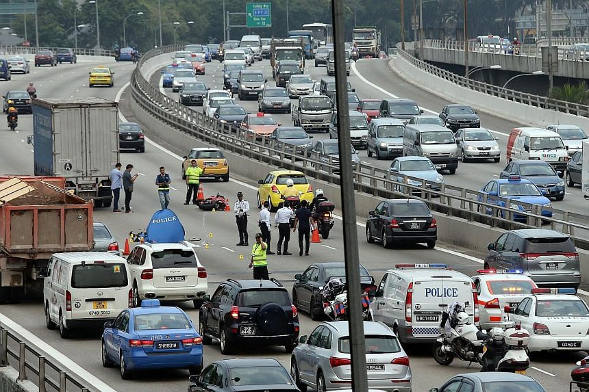 A Singaporean man, 25, was killed in an accident on the Pan-Island Expressway in the direction of Changi, after the Central Expressway exit near Upper Serangoon Road, yesterday. The crash involving his motorcycle and a truck occurred around 4.30pm, s