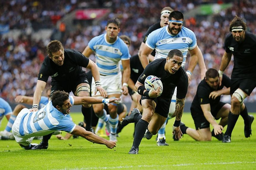 Aaron Smith's well-taken try in the second half helps rejuvenate New Zealand while his speed is a constant thorn in Argentina's side. The Kiwis next take on Namibia on Thursday.
