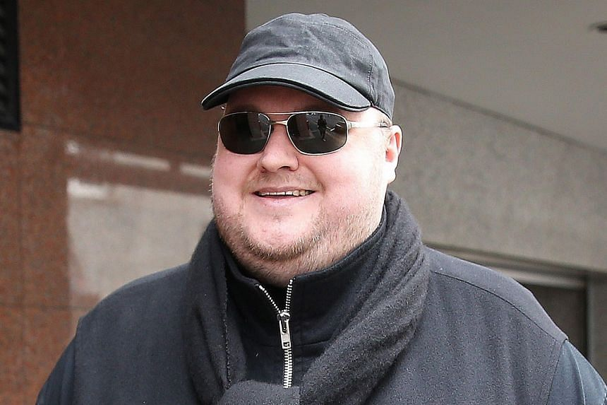 Megaupload's Kim Dotcom leaving court yesterday as he fights a US bid to extradite him from New Zealand.