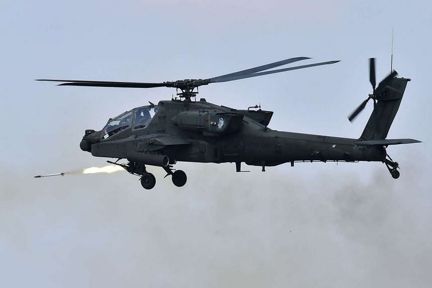 The Cabinet cleared the purchase of 22 Apache helicopters and 15 heavy-lifting Chinook choppers in a a US$2.5 billion (S$3.54 billion) deal.