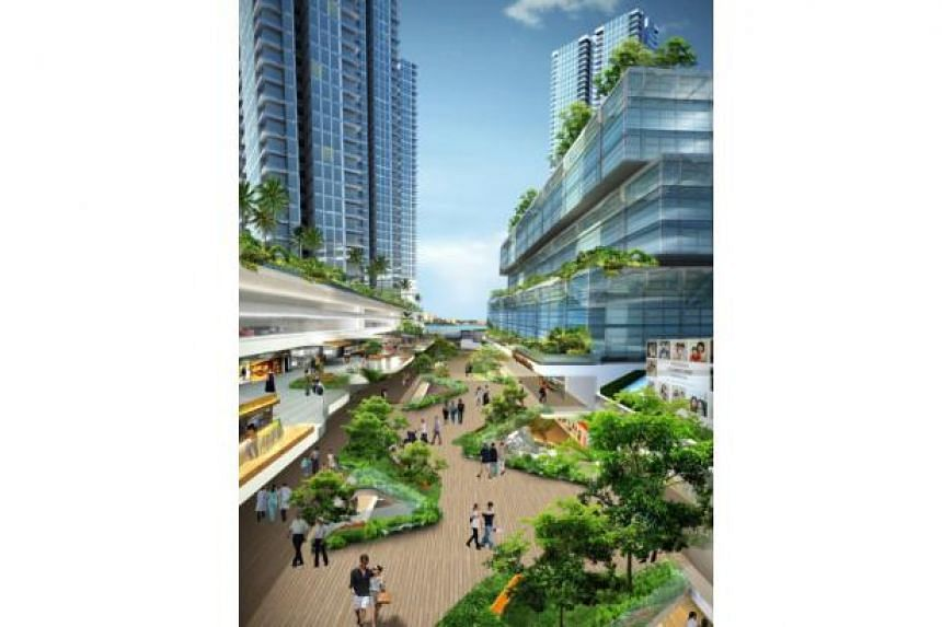 Artist's impression of Vantage Bay, an integrated development in Johor, Malaysia.