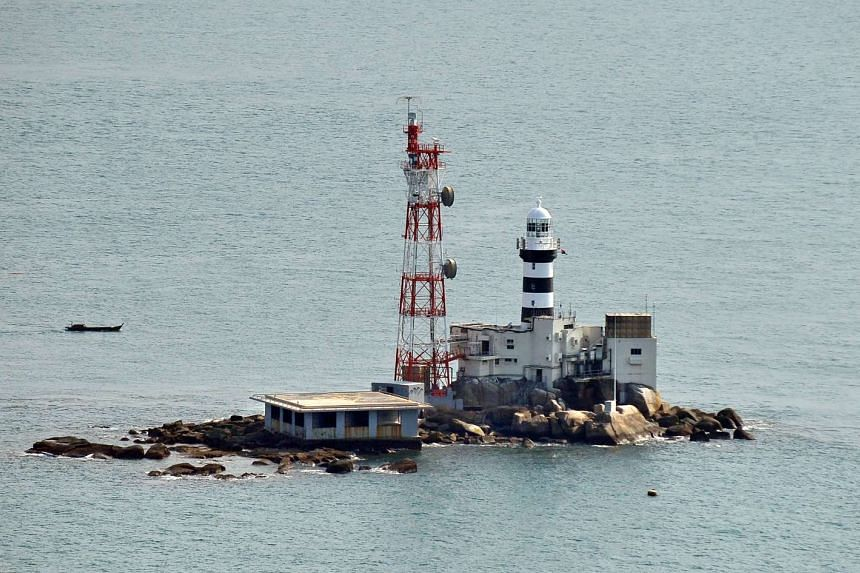 The MPA received a report that a Malaysian-registered fishing trawler capsized seven nautical miles north-east of Pedra Branca (above).