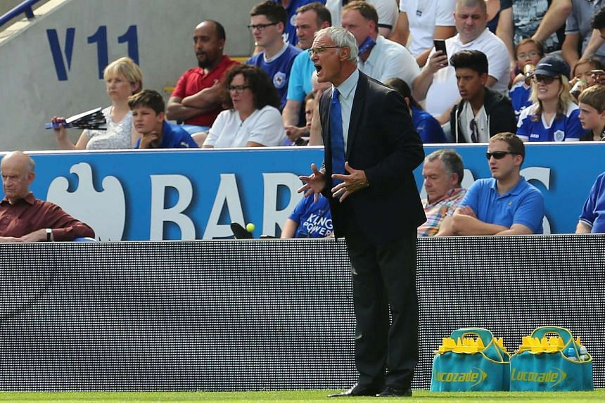 Leicester City manager Claudio Ranieri during the match between Leicester City and Tottenham Hotspur on Aug 22, 2015.