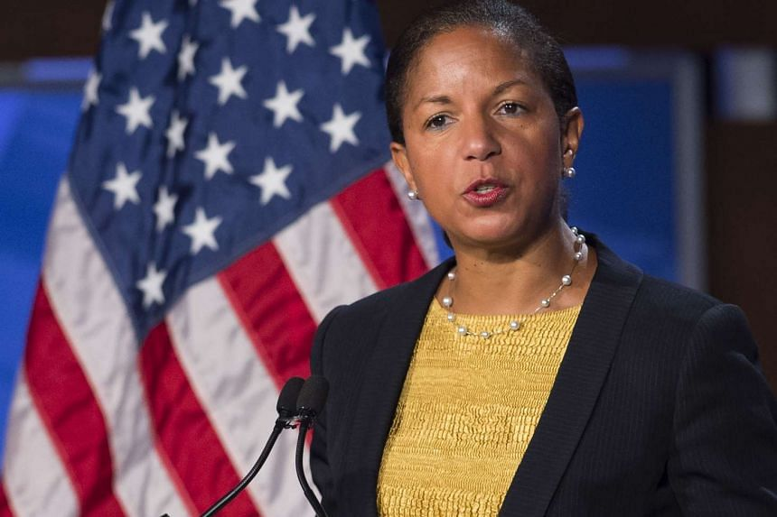 US National Security Adviser Susan Rice speaks about the US - China relationship and upcoming Chinese State Visit to Washington at George Washington University in Washington, DC on Monday.