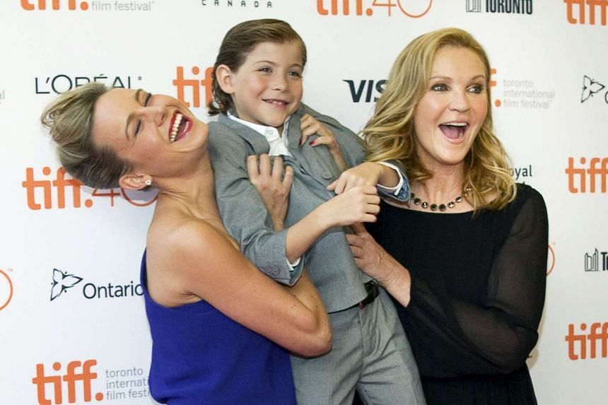 The cast of Room (from far left) Brie Larson, Jacob Trembley and Joan Allen at the premiere of the movie.