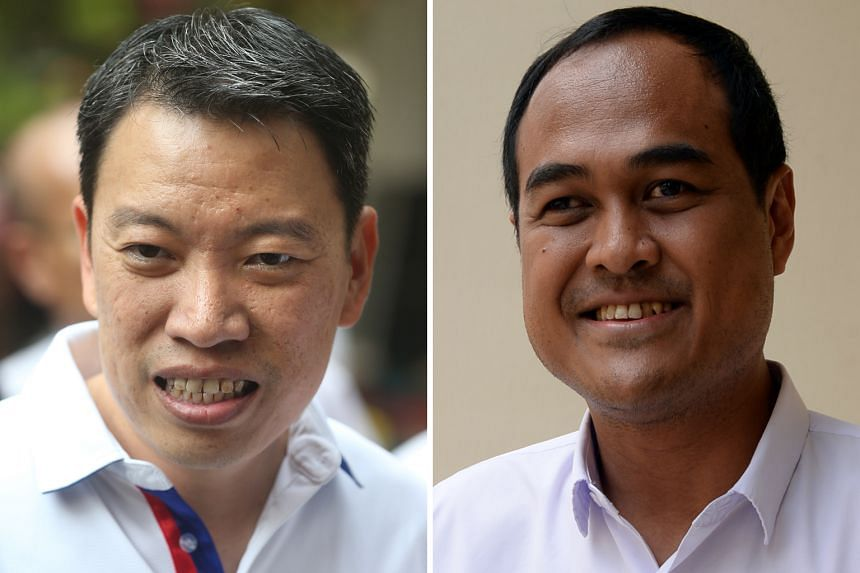 Tanjong Pagar GRC MP Melvin Yong (left) is NTUC's director of industrial relations fieldwork, while Mr Shamsul Kamar, part of PAP's Aljunied GRC team, holds a deputy director post.