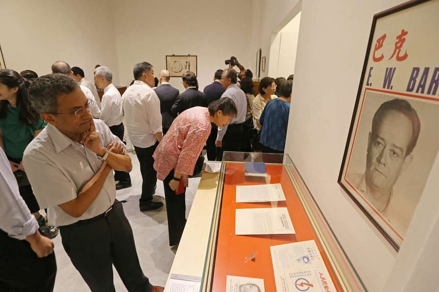 Guests at the preview of the We Built A Nation exhibition at the National Museum.