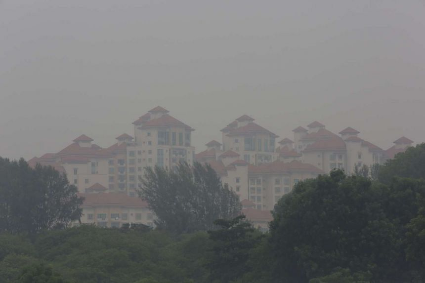 The haze in central Singapore at around 3pm on Sept 22, 2015