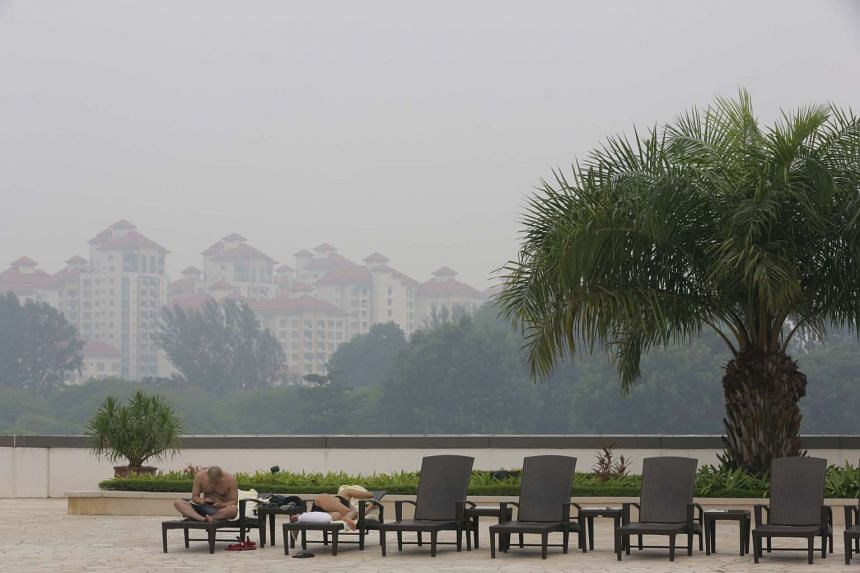 The haze in central Singapore at around 3pm on Sept 22, 2015.