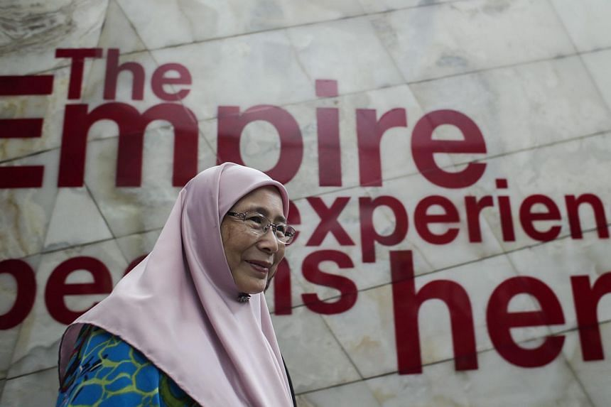 Malaysian Opposition leader Wan Azizah Wan Ismail attending a meeting on the formation of a new opposition alliance on Sept 22,  2015.