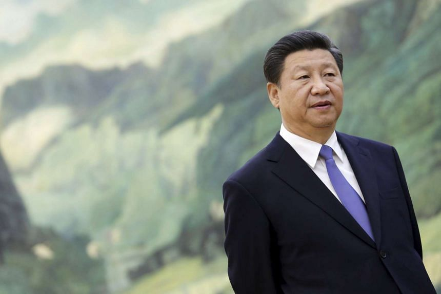 Chinese President Xi Jinping is seen during a meeting with US National Security Advisor Susan Rice (not pictured) during their meeting at the Great Hall of the People in Beijing, China on Aug 28, 2015.