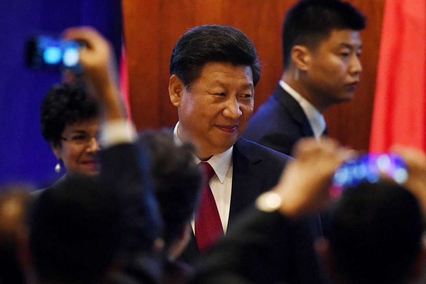 Chinese President Xi Jinping arriving for his welcoming banquet on the start of his visit to the United States, at the Westin Hotel in Seattle, Washington on Sept 22, 2015. Mr Xi will make a high-profile state visit to the White House this week, but