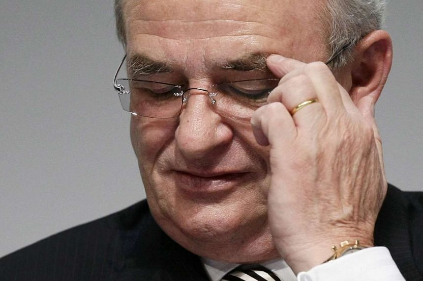 Volkswagen AG's chief executive officer Martin Winterkorn at a news conference in October 2010.