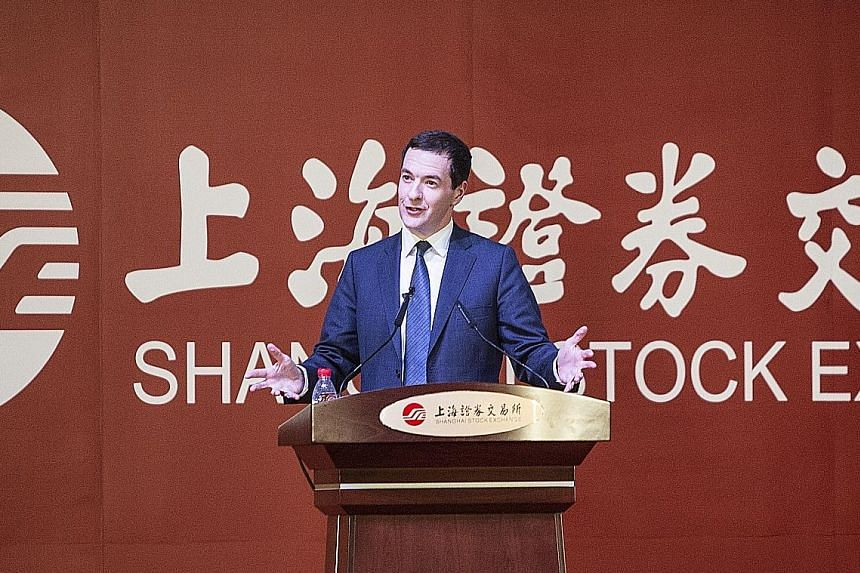 Mr George Osborne yesterday said Beijing's switch in strategy away from an export-led growth would present more opportunities.