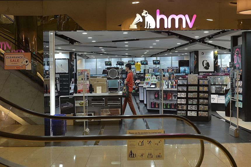 The Straits Times understands that HMV Singapore did not renew its lease at Marina Square at the end of its four-year term. A spokesman for Marina Centre Holdings said its tenant had been in discussions with it for a few months and that moving-out te