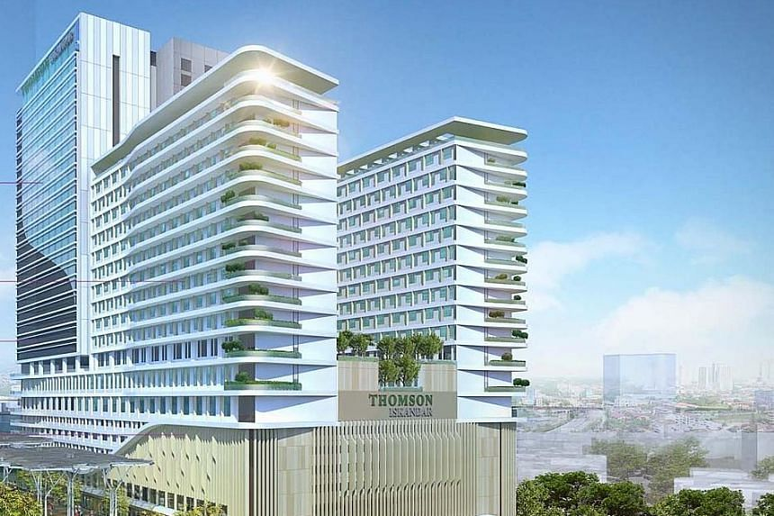 An artist's impression of Thomson Iskandar, which will be managed by Thomson Medical when it is completed in 2018.