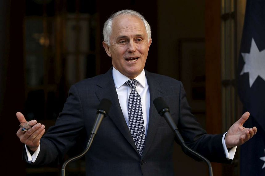 Australian Prime Minister Malcolm Turnbull announcing his new federal cabinet at Parliament House in Canberra, Australia, on Sept 20, 2015.