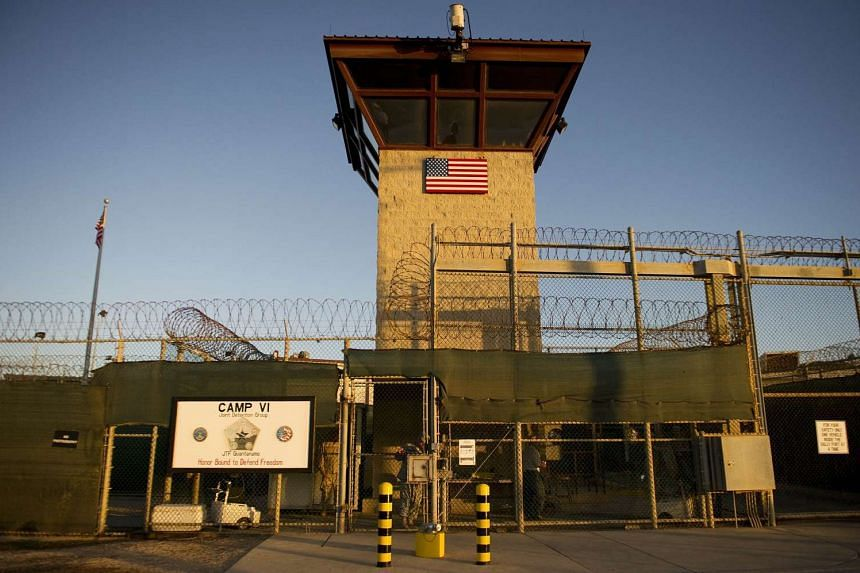 """The front gate of the """"Camp Six"""" detention facility at Guantanamo Bay, Cuba."""