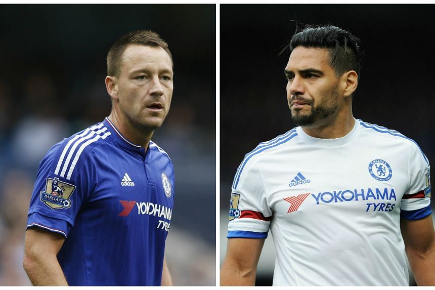 John Terry (left) and Radamel Falcao (right) will return for League Cup holders Chelsea at third tier Walsall on Wednesday.