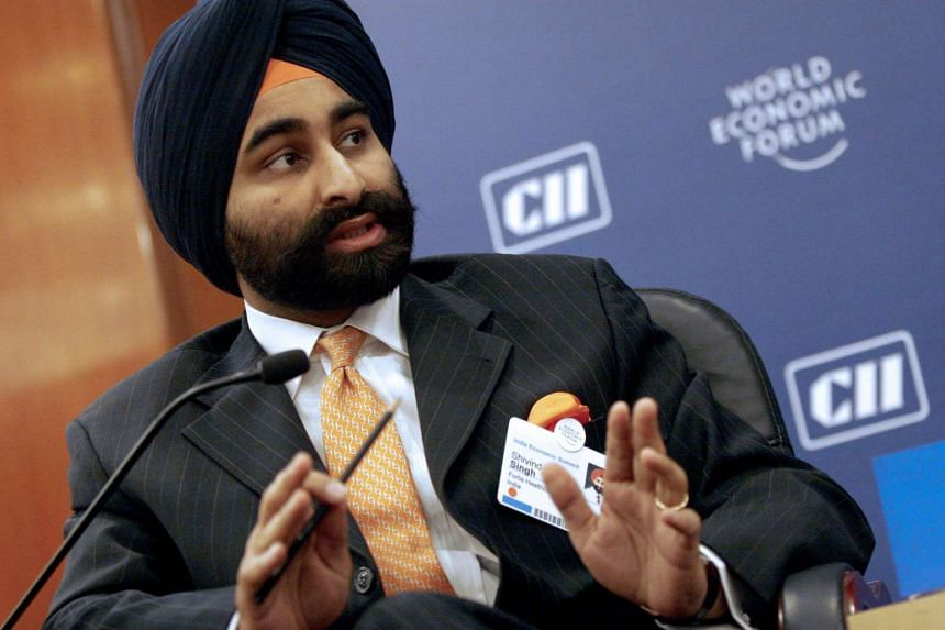 A file picture of Shivinder Mohan Singh, chief executive officer and managing director of Fortis Healthcare Ltd. PHOTO: Bloomberg