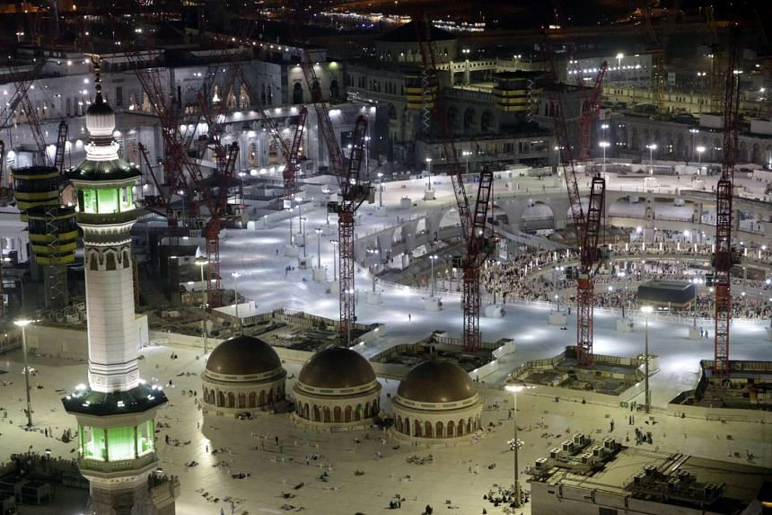 A view at night of the Masjid al-Haram or Grand Mosque, Islam's holiest site, two days before the haj on Sept 20, 2015.