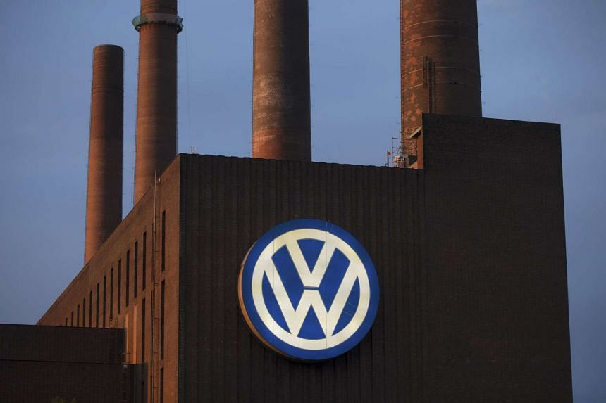 General view of the Volkswagen power plant in Wolfsburg, Germany on Tuesday.