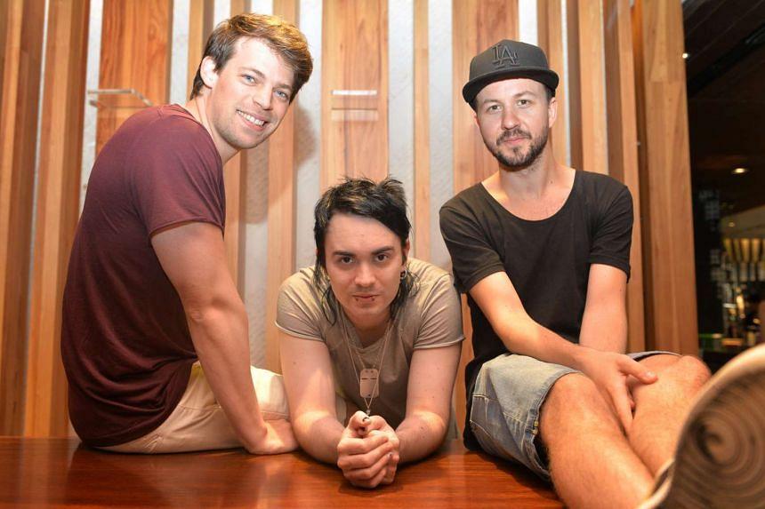 Dirty Loops comprise (from left) vocalist and keyboardist Jonah Nilsson, bassist Henrik Linder and drummer Aron Mellergardh.
