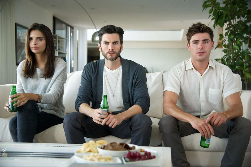 Emily Ratajkowski, Wes Bentley and Zac Efron in We Are Your Friends.