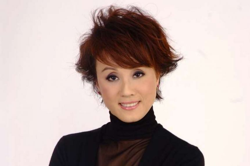 Joyce Koi (above) and in Legend Of The Purple Hairpin with leading actress Ng Mei Ying.