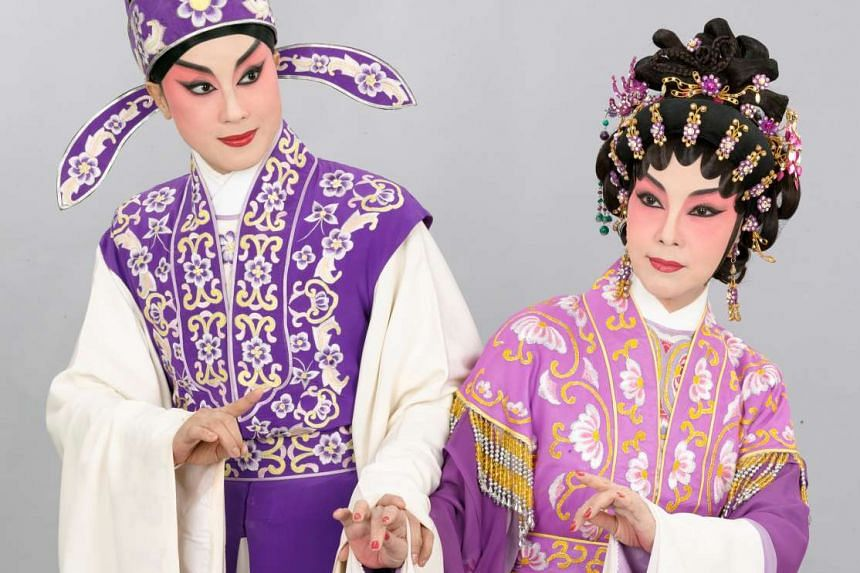 Joyce Koi and in Legend Of The Purple Hairpin (above) with leading actress Ng Mei Ying.