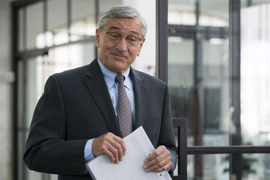 In The Intern, Robert De Niro plays a widower who comes out of retirement and works with much younger colleagues.