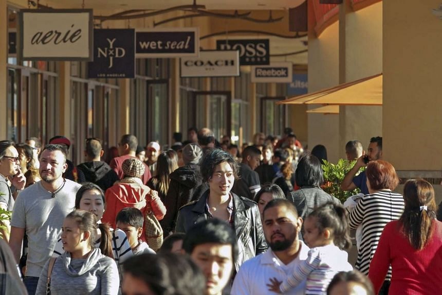 People shopping at Citadel Outlets in Los Angeles, California on Dec 26, 2014.