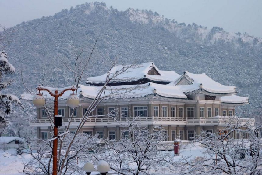 A file photo taken on Feb 21, 2014, shows a general view of the venue of North and South Korean family reunions at the resort area of Mount Kumgang, North Korea.