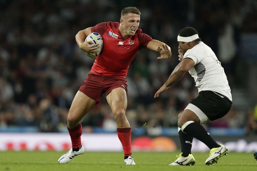 England's Sam Burgess during the match against Fiji on Sept 19, 2015.