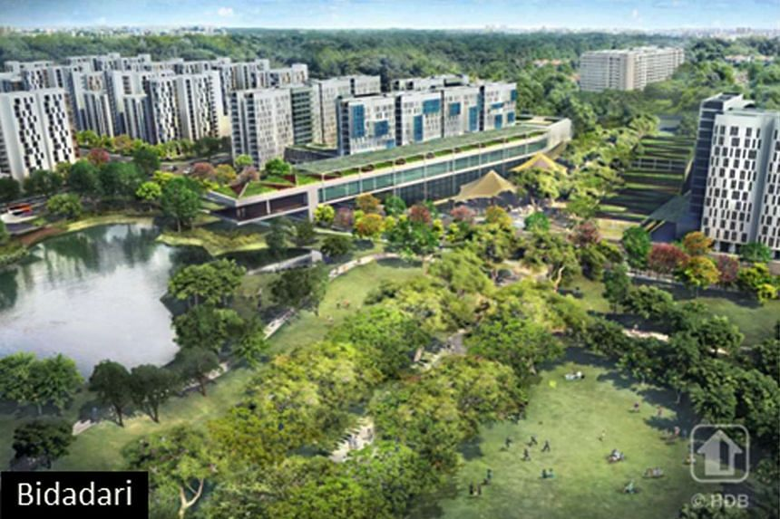 Artist's impression of the new Bidadari estate, one of HDB's three upcoming heartlands of the future.