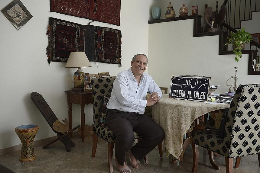 Dr Ameen Talib, who is also a board member of the National University of Singapore's Middle East Institute, at his home in Bukit Batok. He wedded his Malay wife Fatimah Jumaat and became a Singapore citizen in 1995.