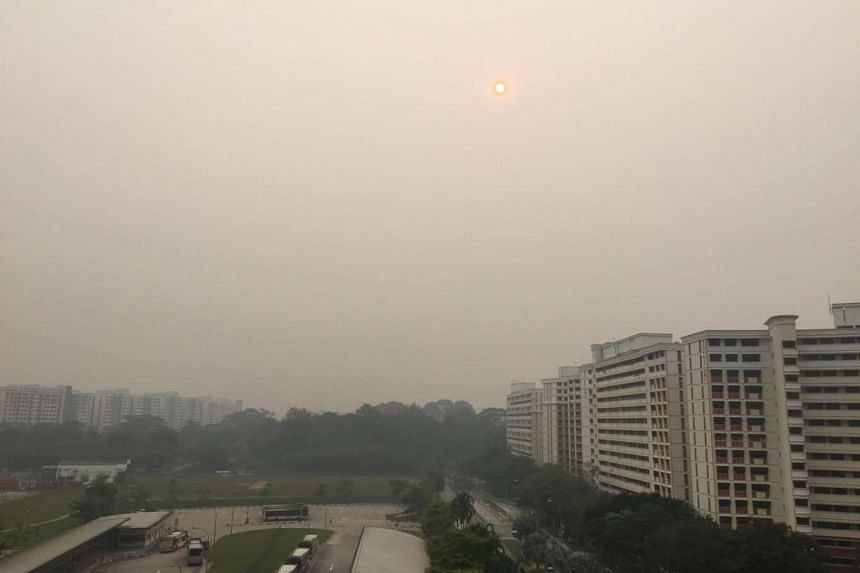 Hazy conditions in Sembawang at 8.40am on Thursday, Sept 24.